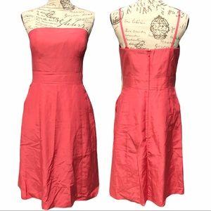 Glint size 10 pink strapless event cocktail dress